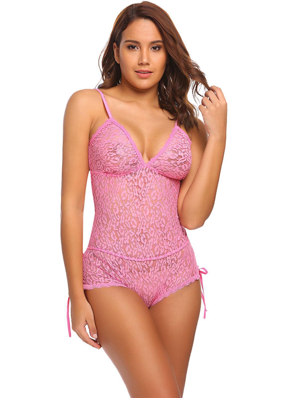4b3c8d9919 Pink Women Teddy Bodysuit One Nightwear